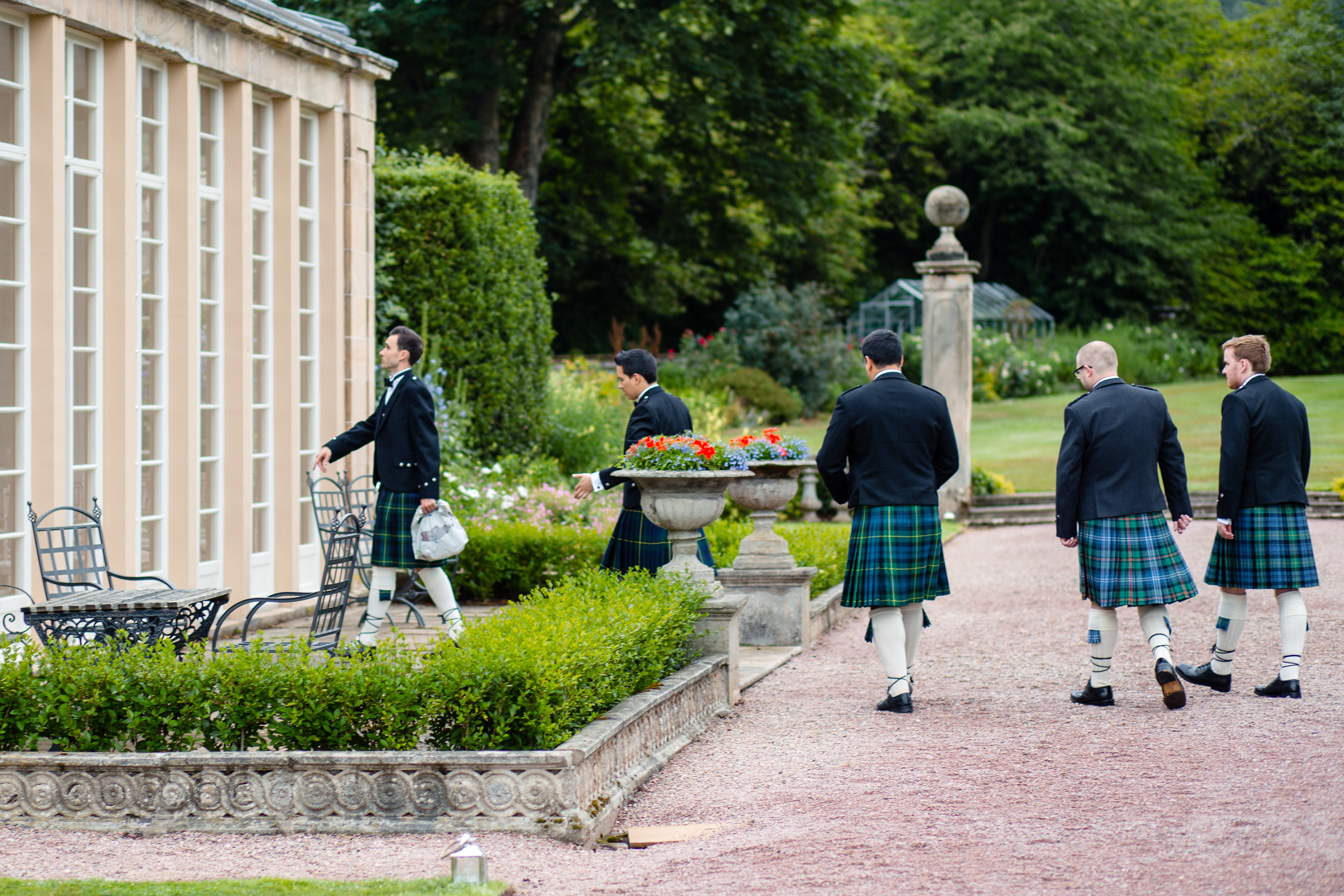 PapaKåta couple Lucy & Tom's Sperry Wedding at Gordon Castle Scotland captured by Helen Abraham Photography- Groomsmen Styling