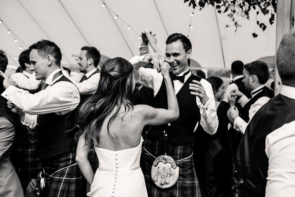 PapaKåta couple Lucy & Tom's Sperry Wedding at Gordon Castle Scotland captured by Helen Abraham Photography- The First Dance