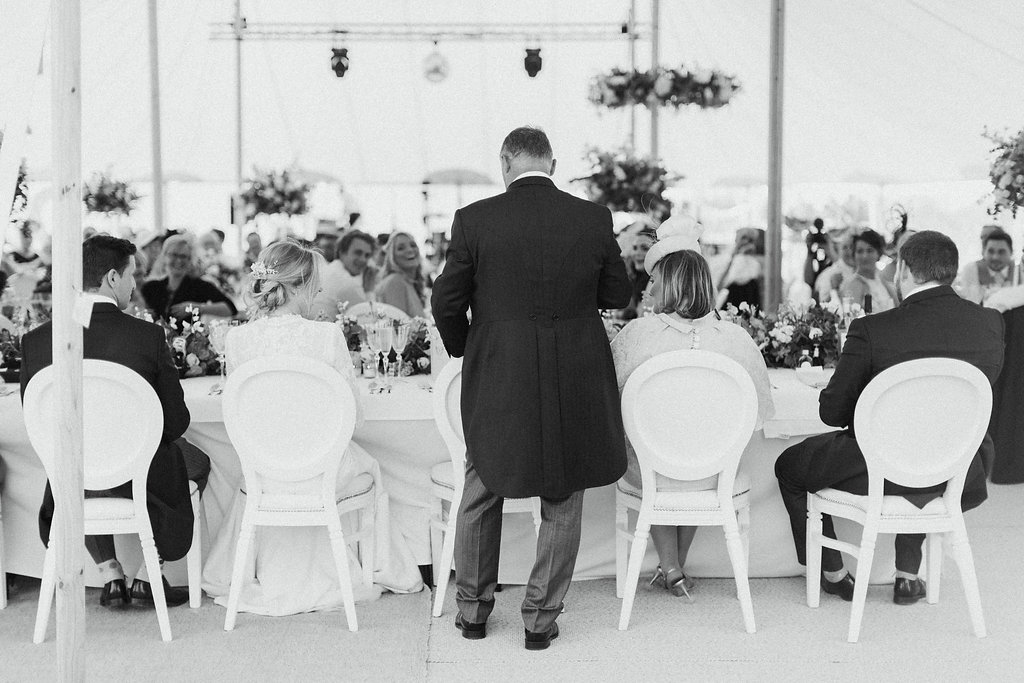 PapaKåta couple Georgina & Steve Sperry Tent Wedding in Barnby Dun, Doncaster captured by Melissa Beattie- The speeches