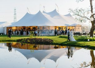 The Sperry Tent's stunning silhouette: See Georgina & Steve's PapaKata Sperry Wedding by Melissa Beattie Photography