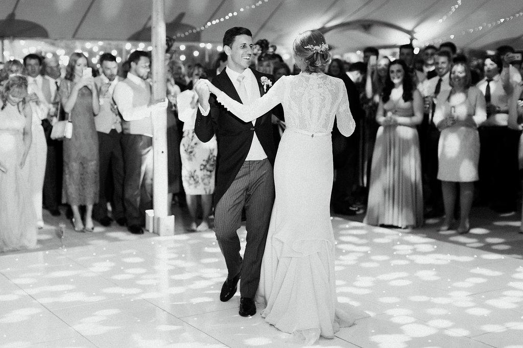 PapaKåta couple Georgina & Steve Sperry Tent Wedding in Barnby Dun, Doncaster captured by Melissa Beattie- First Dance