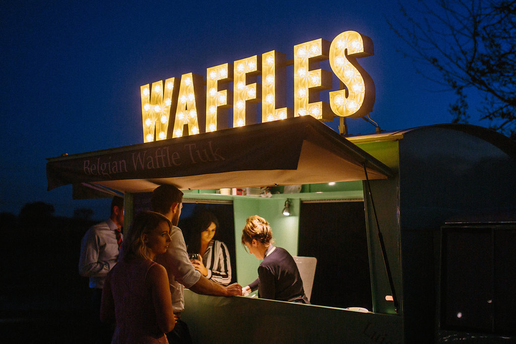 PapaKåta couple Georgina & Steve Sperry Tent Wedding in Barnby Dun, Doncaster captured by Melissa Beattie- Waffles by Belgian Waffle Tuk