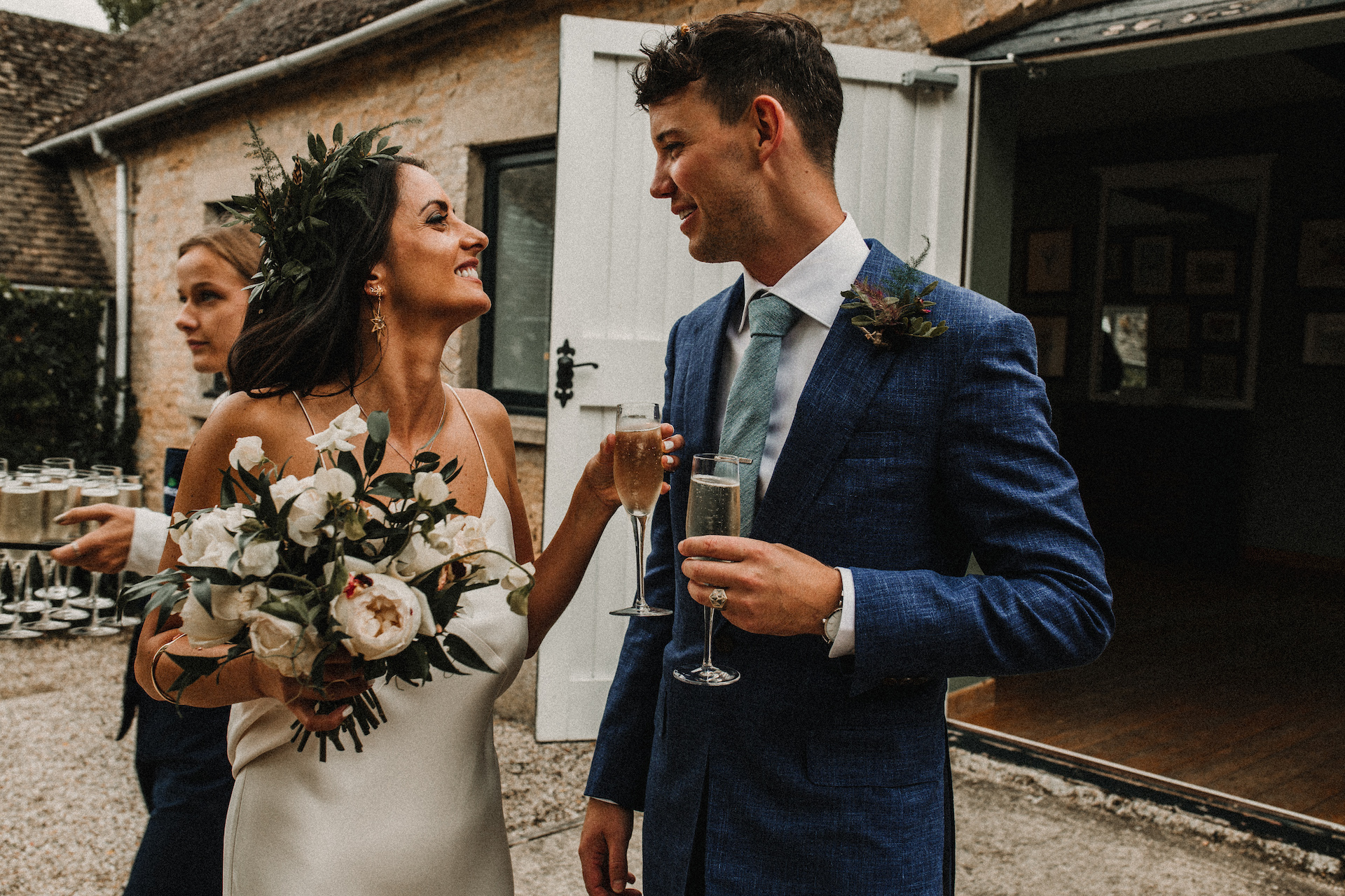 PapaKåta couple Hayley & Luke's Teepee Wedding in Ascott-Under-Wychwood, Oxon captured by Carla Blain Photography- Bridal Style