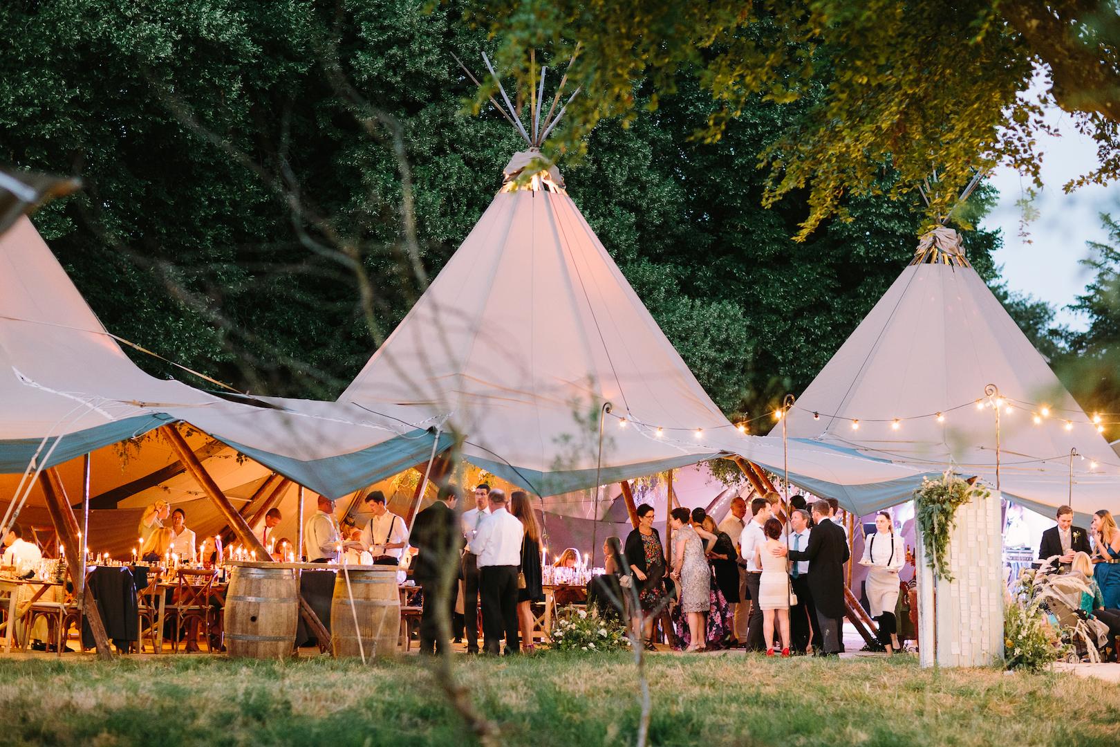 Brennan & Tom's PapaKåta Teepee Wedding by Barker Evans Photography