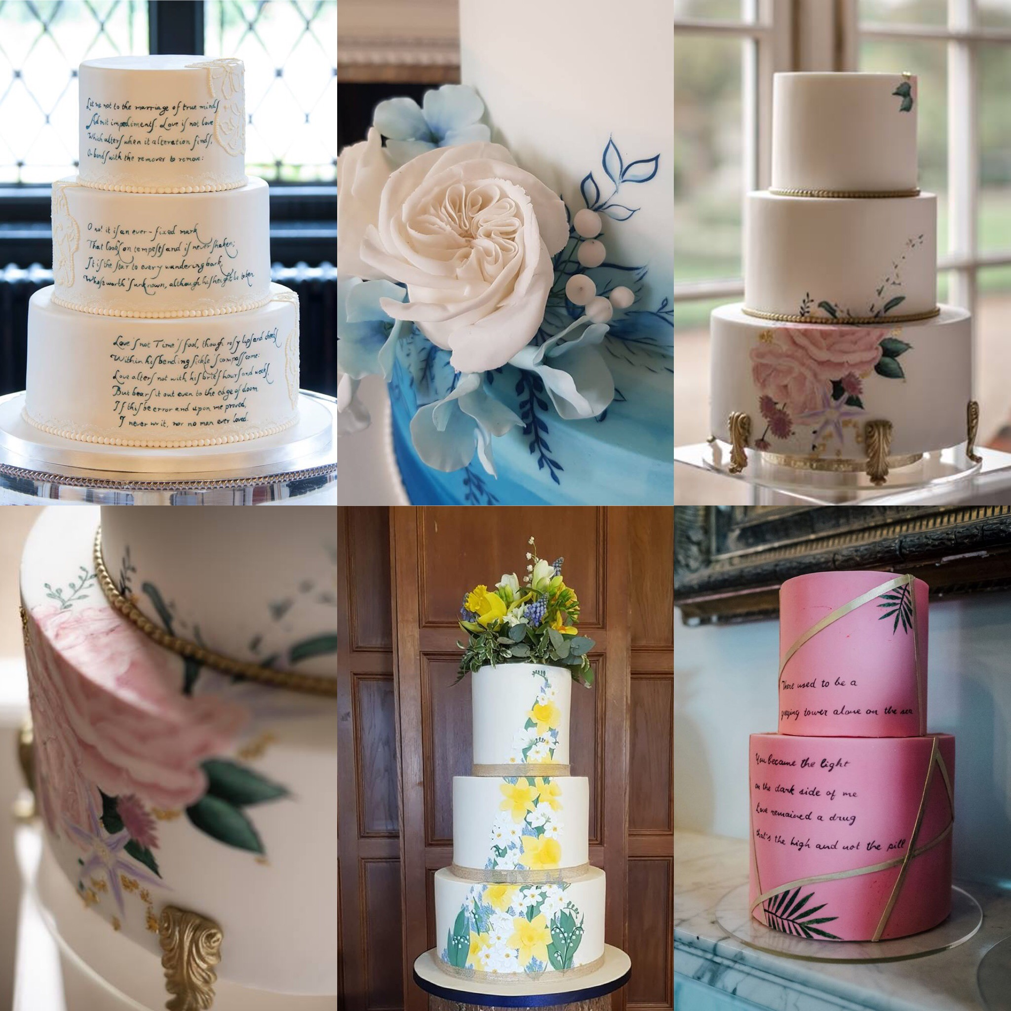 Handpainted cakes by Cherry Blossom for the PapapKåta Open Weekend