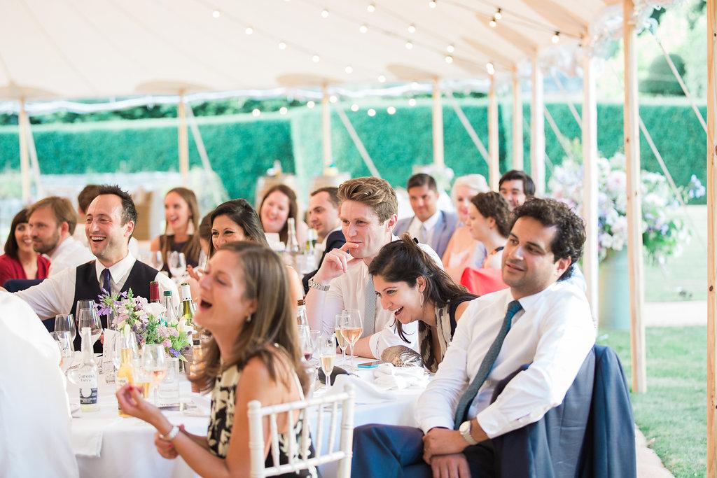 Georgie & Ben's PapaKåta Sperry Tent wedding at Newington House captured by Lucy Davenport: Wedding Guest Style