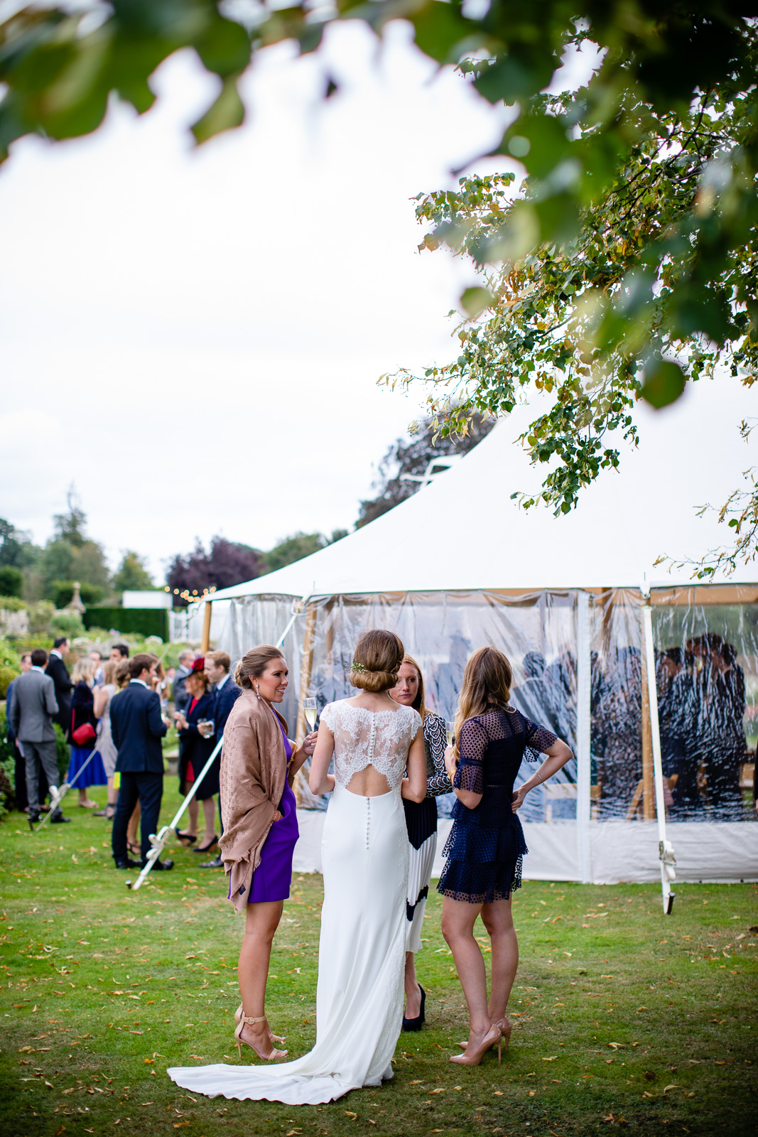 Emily & Ed's PapaKåta Sperry Tent wedding at Buckhurst Park captured by Tony Hart Photography: Bridal Style, Dress by Mirror Mirror