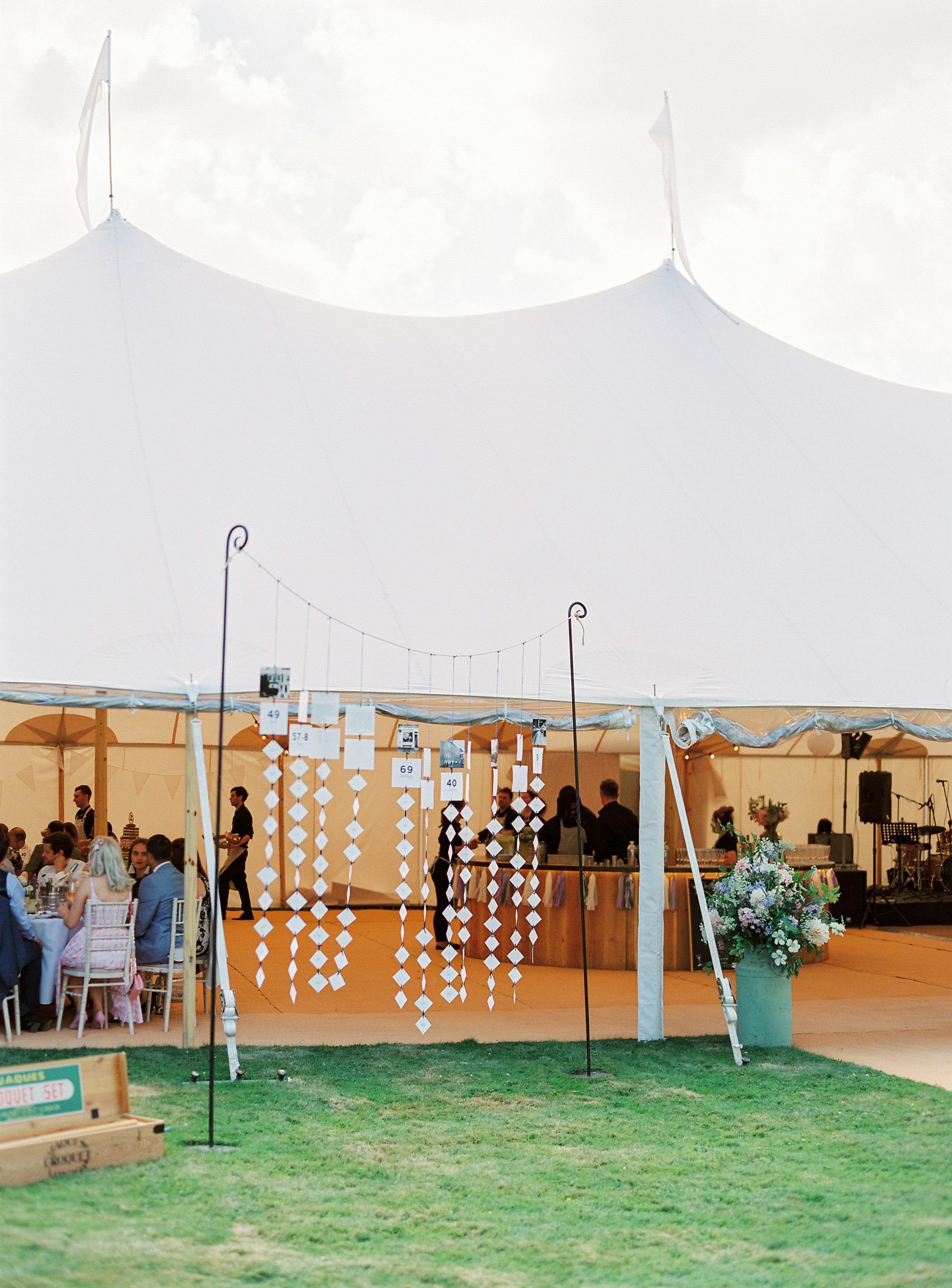 Georgie & Ben's PapaKåta Sperry Tent wedding at Newington House captured by Lucy Davenport: Table Plan Decoration Ideas