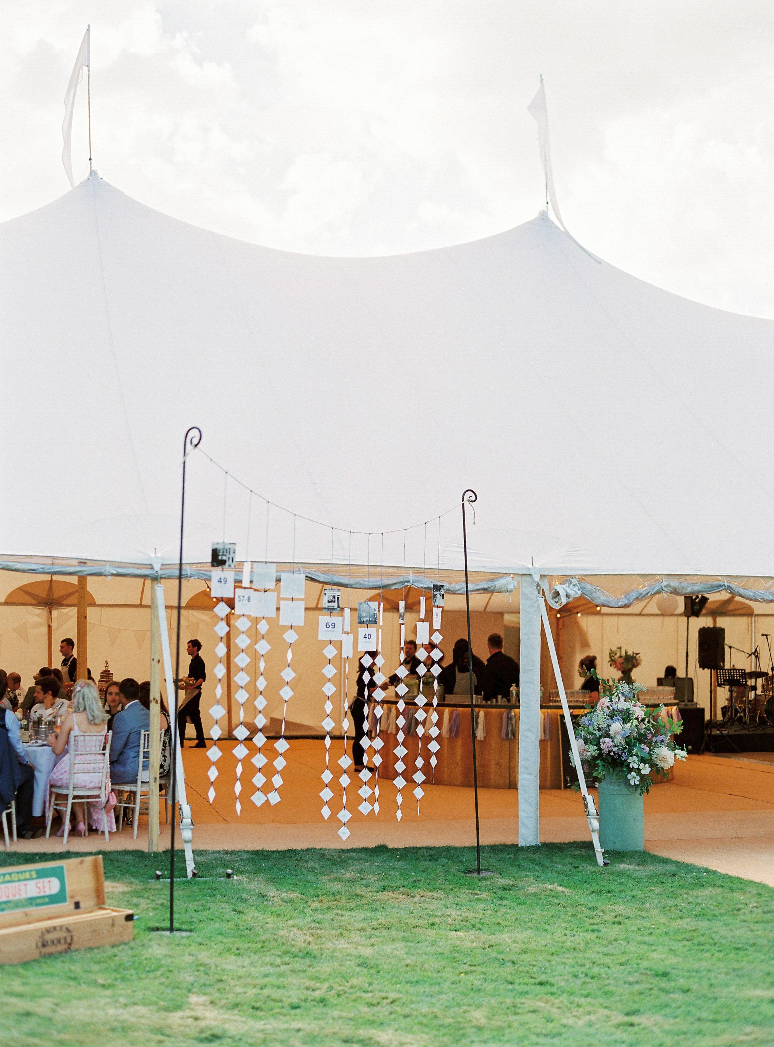 Georgie & Ben's PapaKåta Sperry Tent wedding at Newington House captured by Lucy Davenport: Table Plan Decoration Ideas