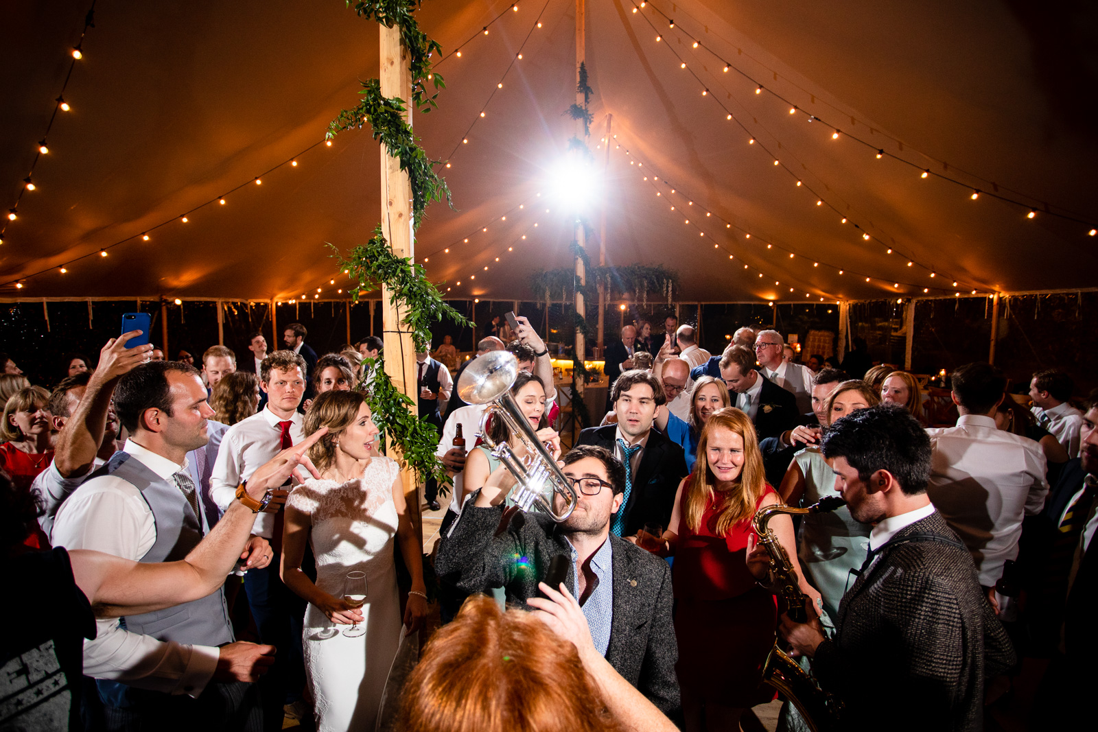 Emily & Ed's PapaKåta Sperry Tent wedding at Buckhurst Park captured by Tony Hart Photography: Wedding Entertainment