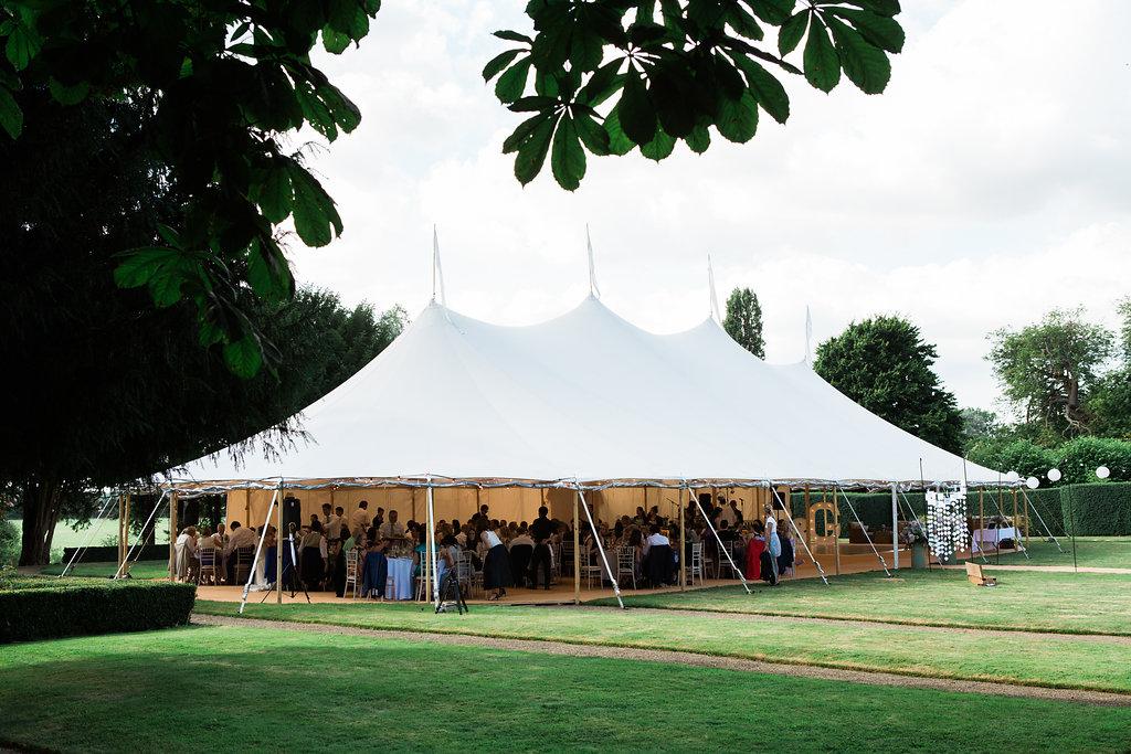 Georgie & Ben's PapaKåta Sperry Tent wedding at Newington House captured by Lucy Davenport: Sperry Tent exterior