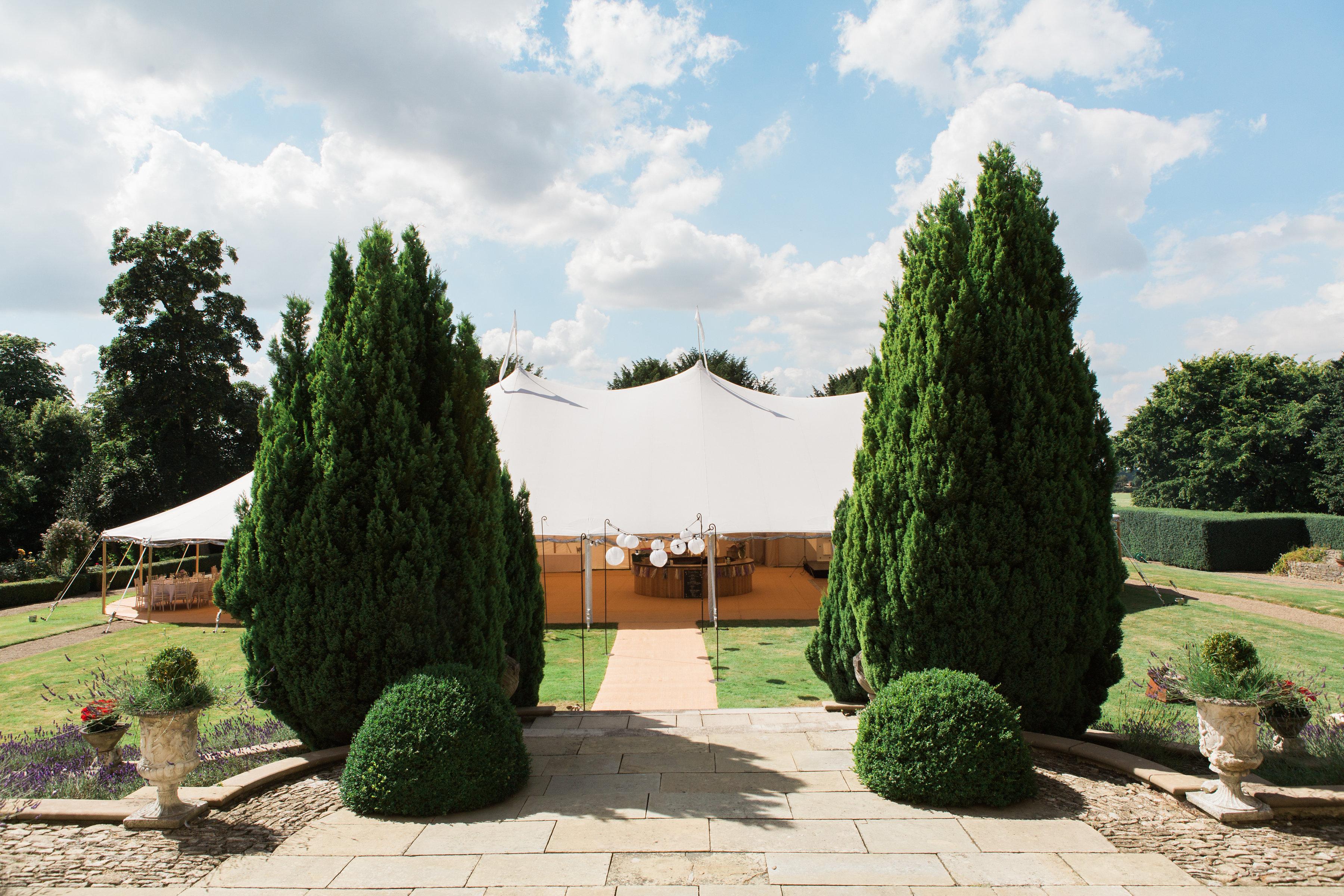 Georgie & Ben's PapaKåta Sperry Tent wedding at Newington House captured by Lucy Davenport: Sperry Tent Reception Space