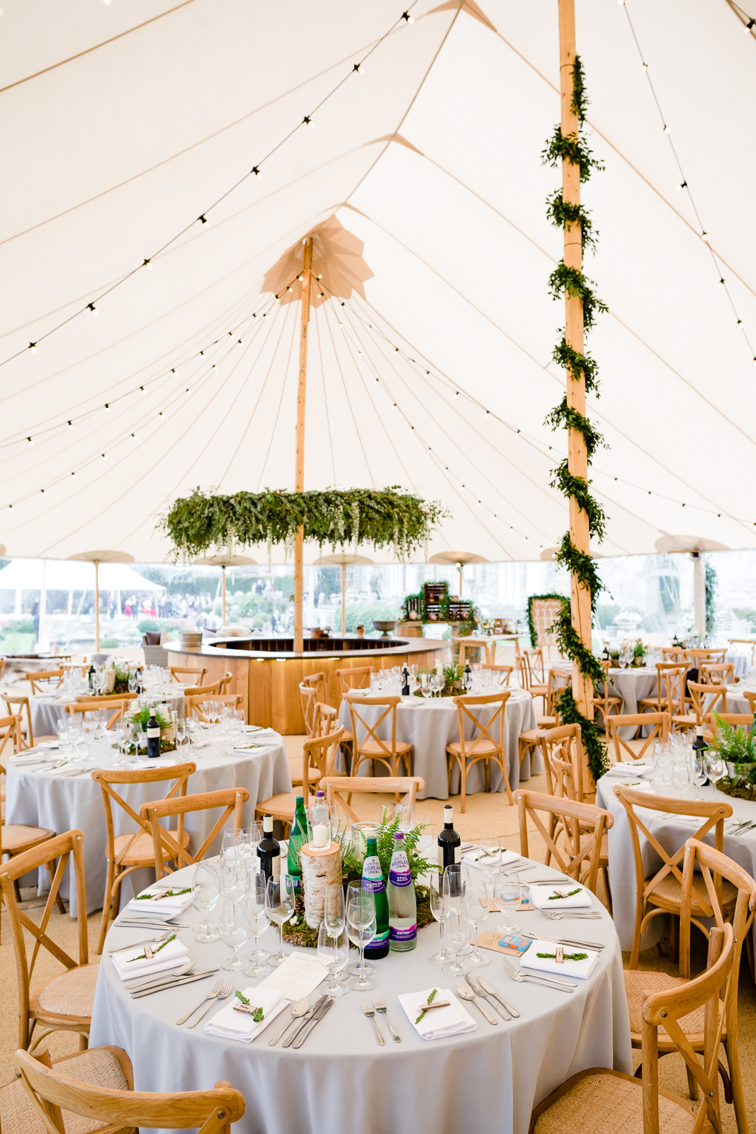 Emily & Ed's PapaKåta Sperry Tent wedding at Buckhurst Park captured by Tony Hart Photography: Floral Hoop by Florist In the Forest