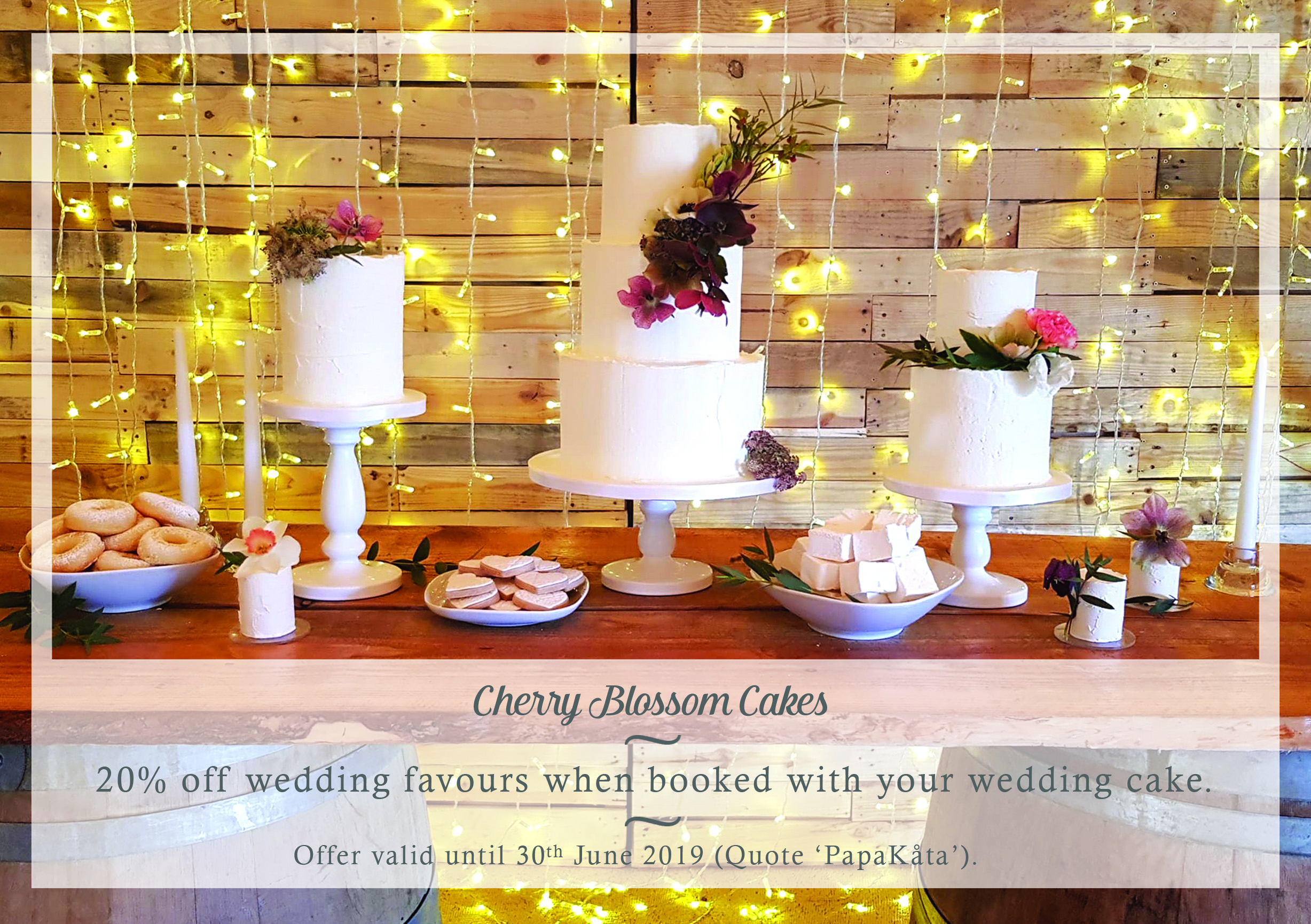 Cherry Blossom Cakes your exclusive PapaKata supplier discount