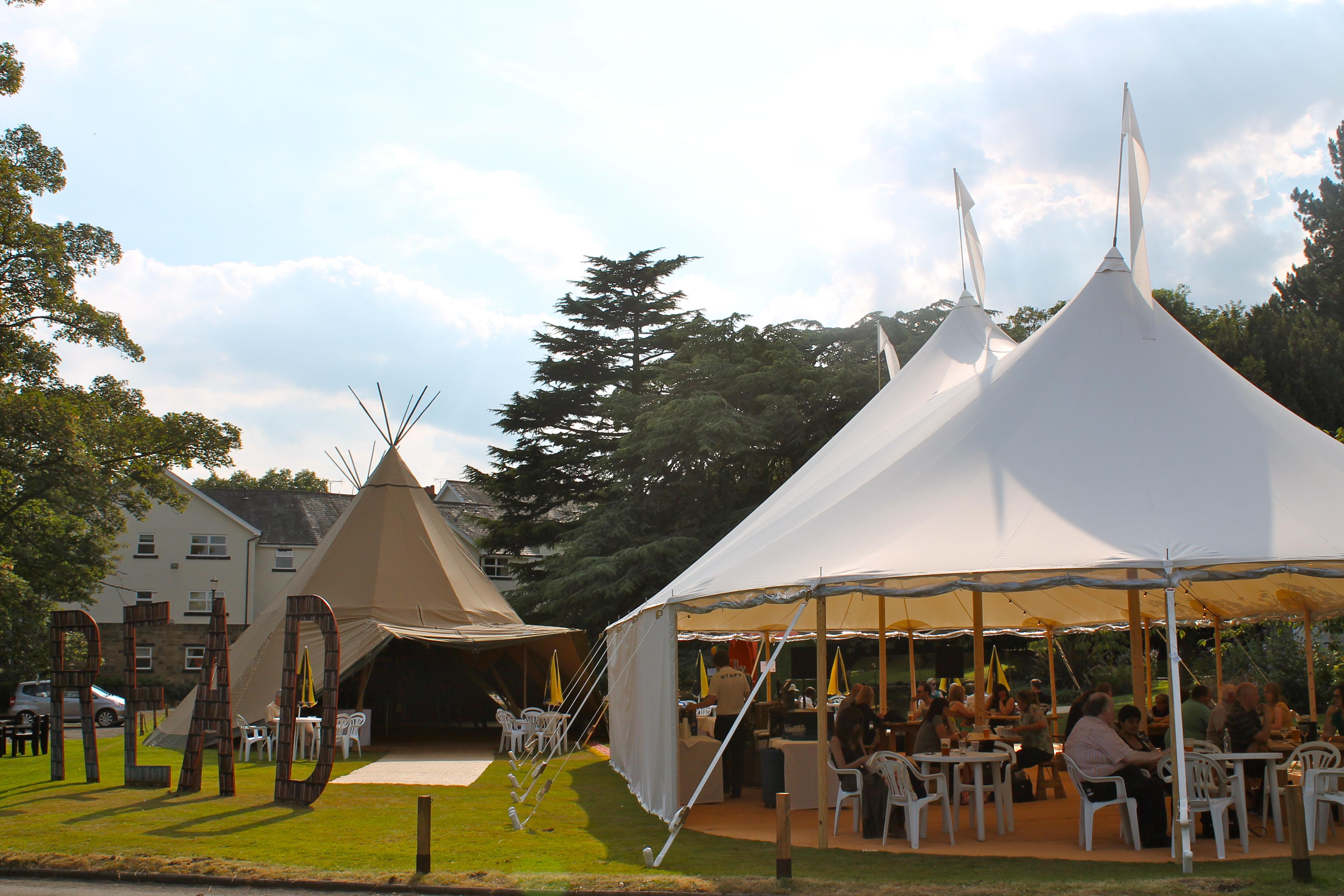 PapaKåta Teepee & Sperry Tent at Crime Writers Festival