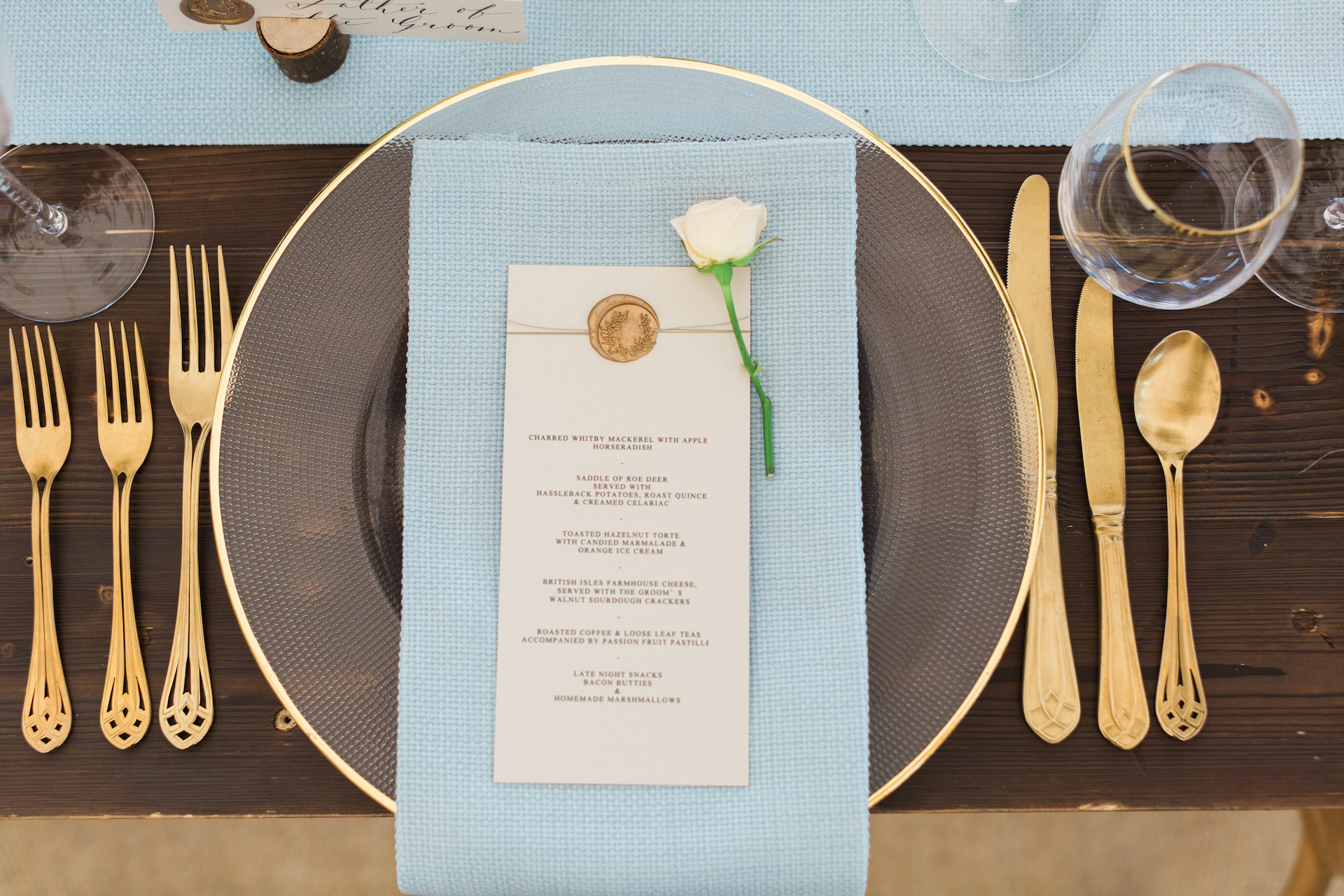 PapaKåta Spring Open Weekend Sperry Tent captured by Lucy Davenport Photography: Table Setting with Whitehouse Crockery, Just 4 Linen & Lonetree Weddings