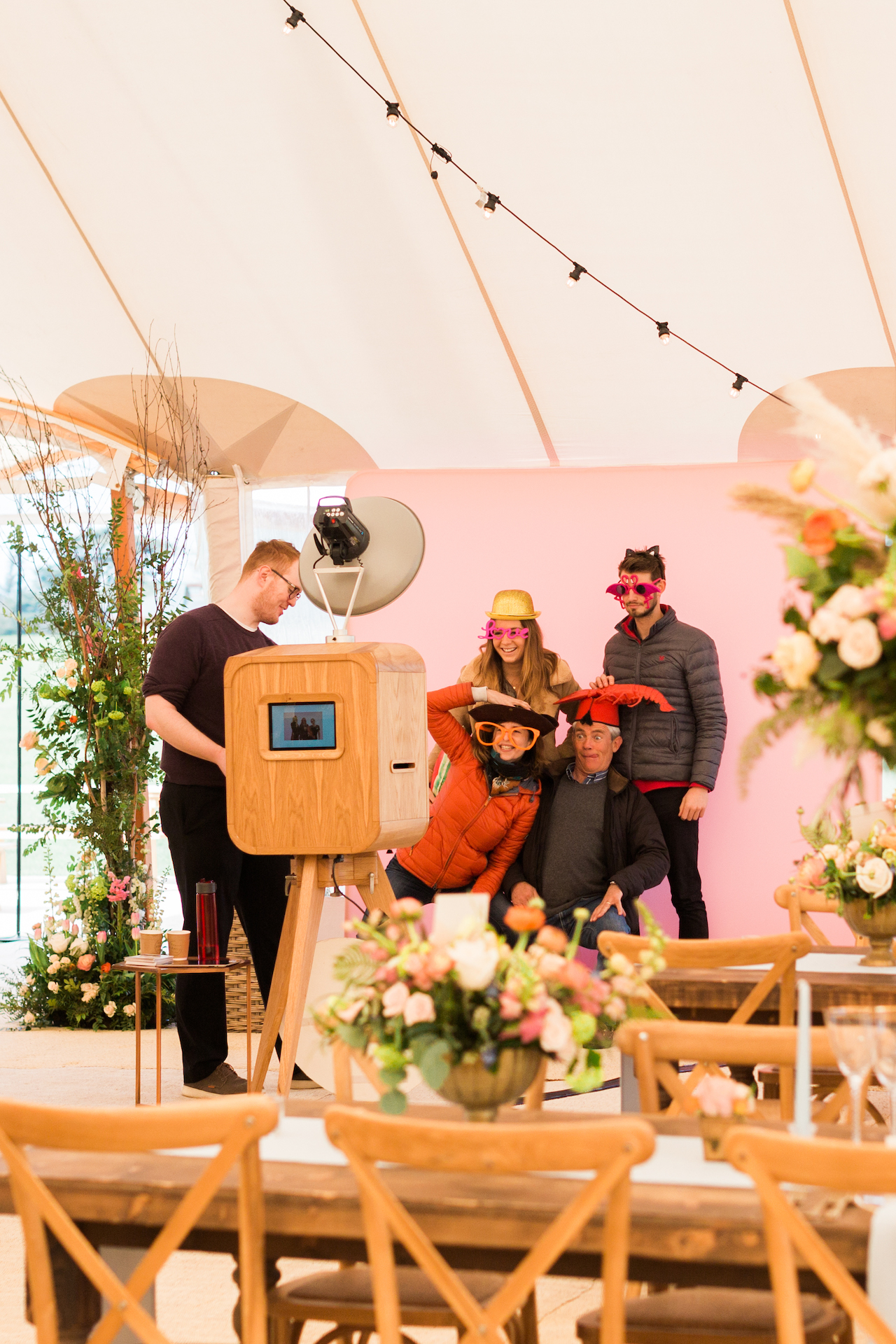 PapaKåta Spring Open Weekend Sperry Tent captured by Lucy Davenport Photography: Booth Revolution