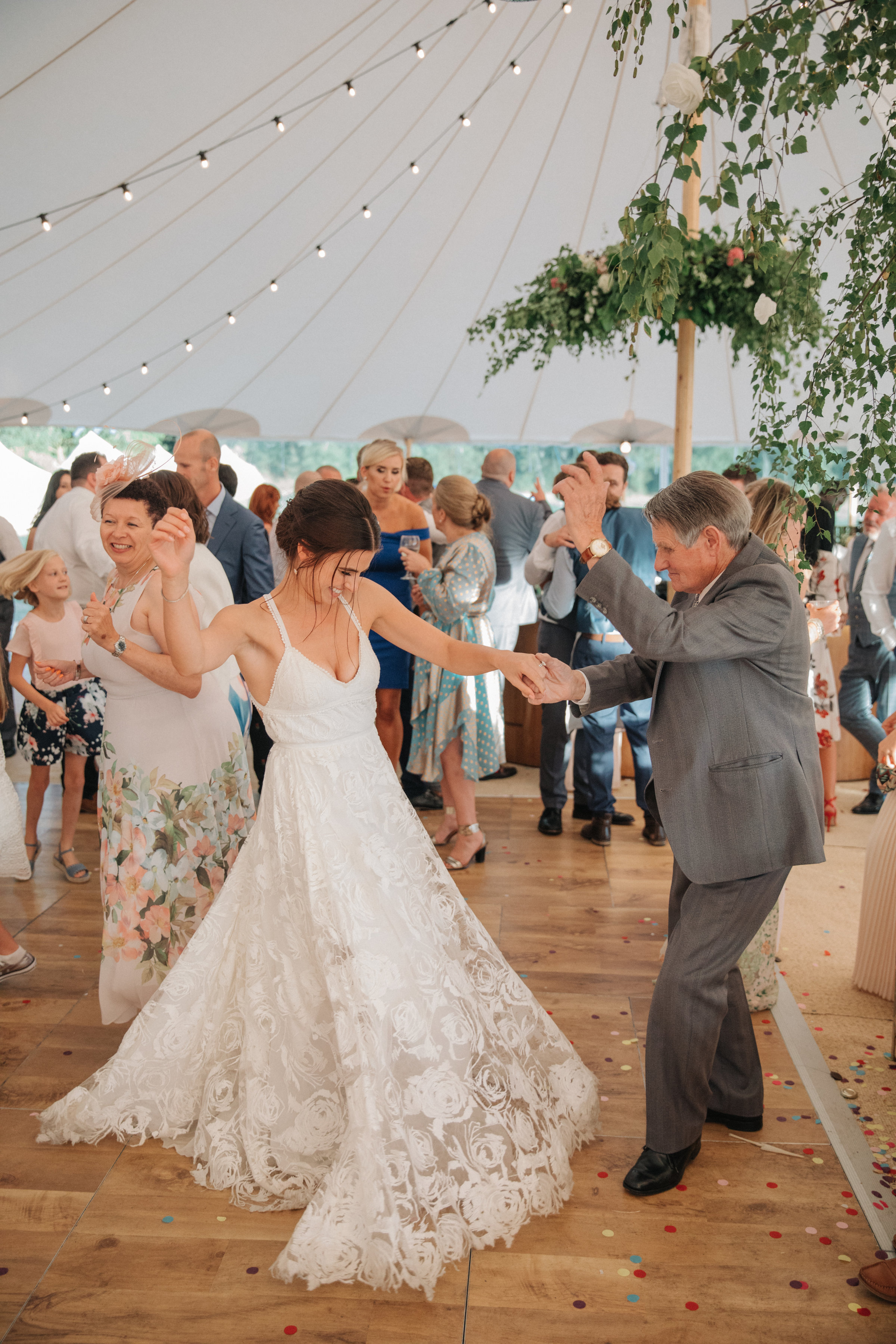 Steph & Ed's PapaKåta Sperry Tent wedding at home in Nottingham captured by M & J Photography: Bridal Style