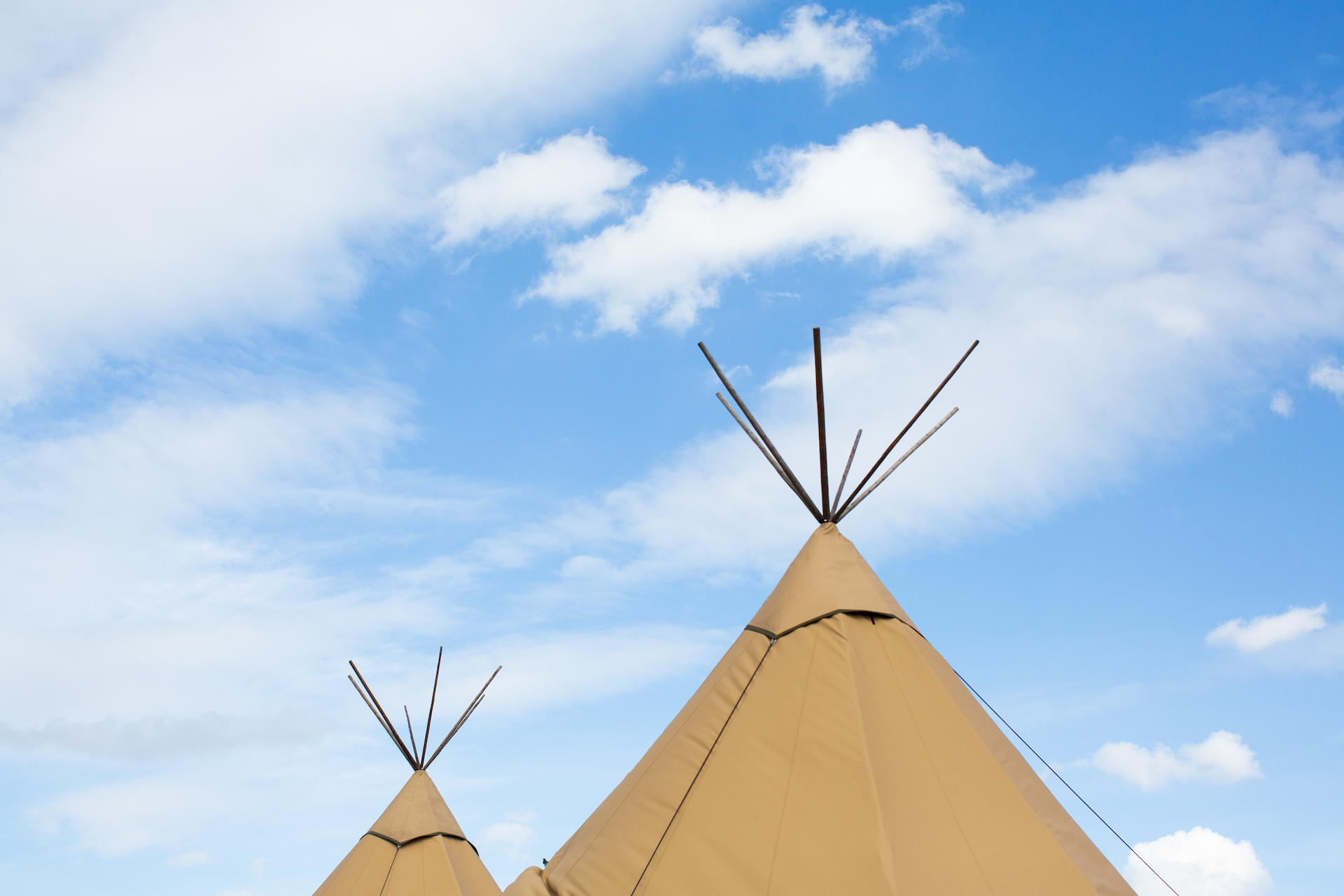 PapaKåta Spring Open Weekend Teepee captured by Lucy Davenport Photography