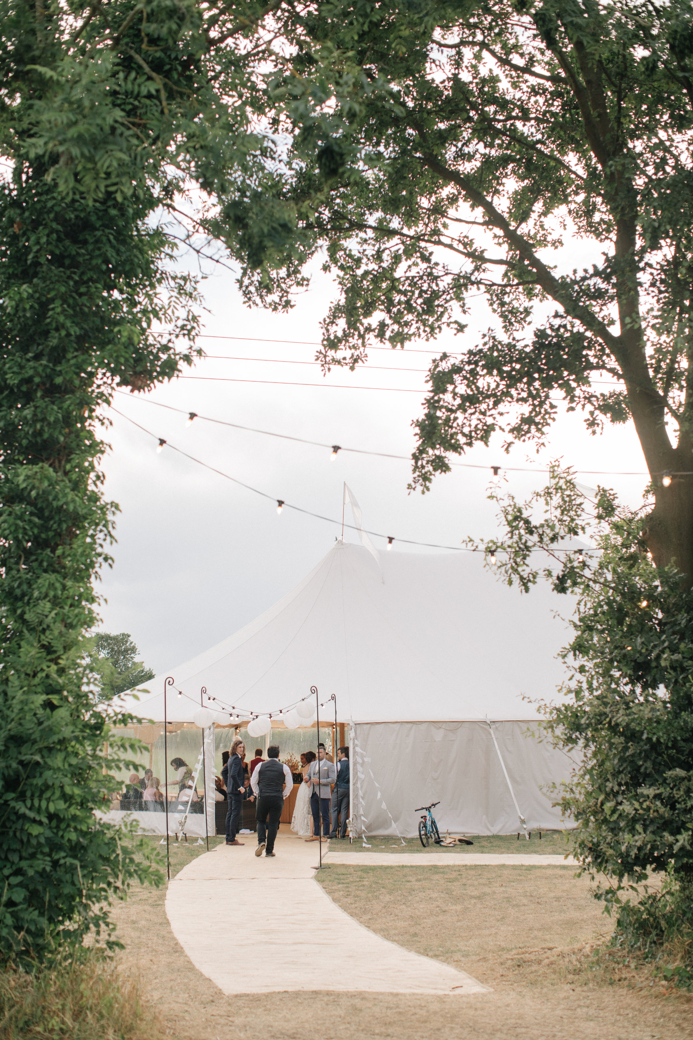 Steph & Ed's PapaKåta Sperry Tent wedding at home in Nottingham captured by M & J Photography: Sperry Tent Exterior