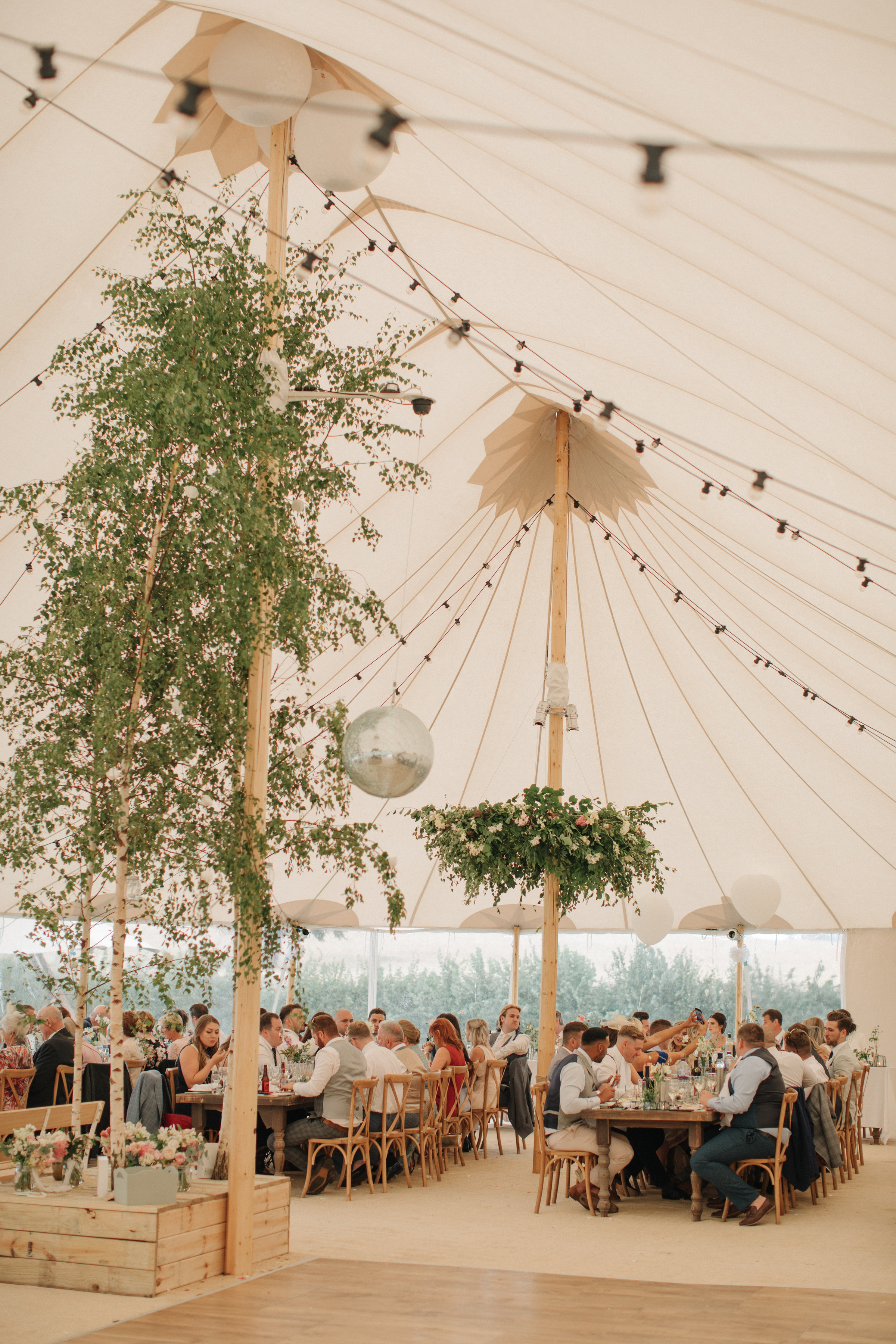 Steph & Ed's PapaKåta Sperry Tent wedding at home in Nottingham captured by M & J Photography: Wedding Guests