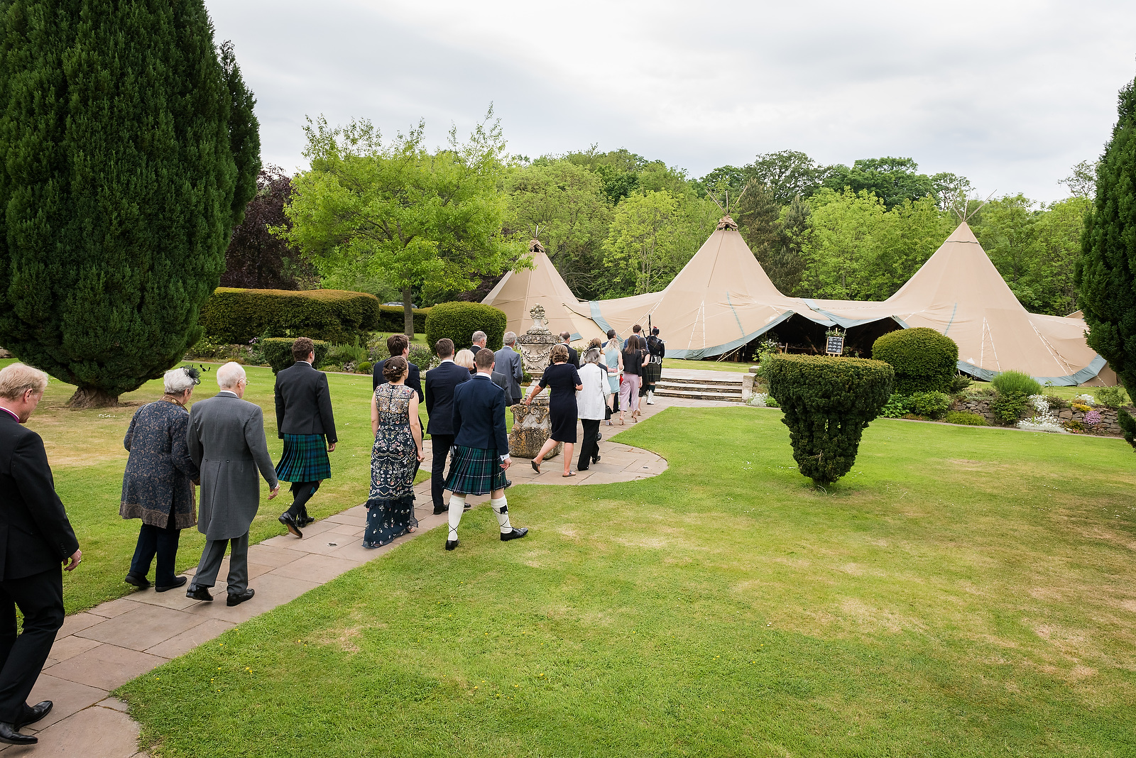 Harriet & William's PapaKåta Teepee Wedding at Gilmerton House captured by First Light Photography- Wedding Guests