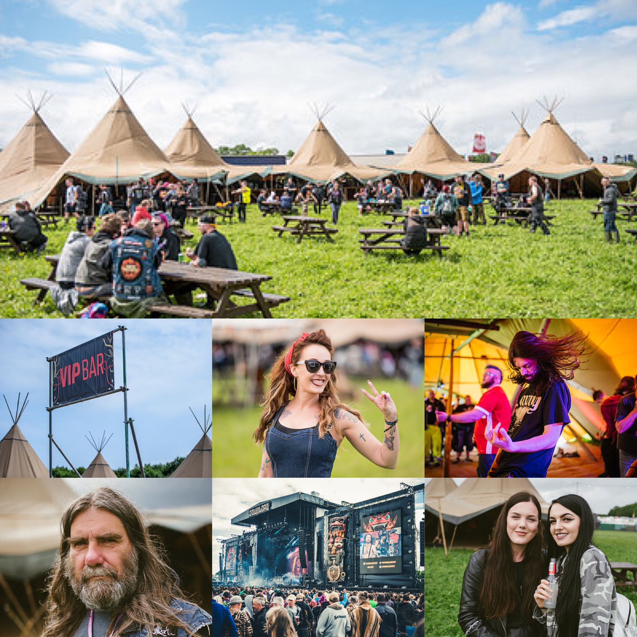 PapaKata Teepee Tent at Download Festival